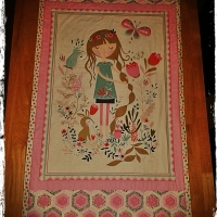 Beautiful Garden Girl Quilt