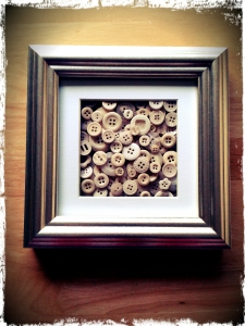 Picture made from buttons