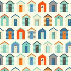 Beach Huts Fabric