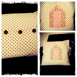 Handmade cushion applique
