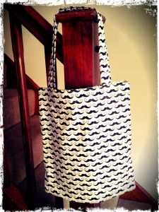 Movember Moustache Tote Bag
