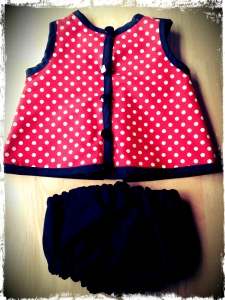 Minnie Mouse Baby Dress Back