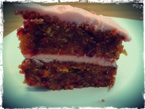 Frosted Beetroot Sponge Cake