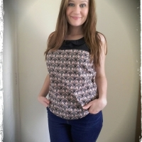 Two Tone Datura Blouse