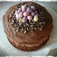 Easter Mini Egg Nest Cake