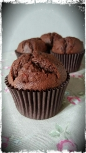 Raspberry and Chocolate Cake Muffins
